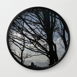 Trees along the River Thames, near Woolwich Wall Clock