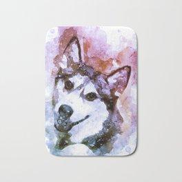 Tika'ani our Siberian Husky Bath Mat