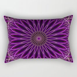Pretty glowing violet mandala Rectangular Pillow