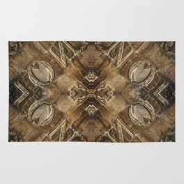 Metal Vintage Letter Abstract Rug