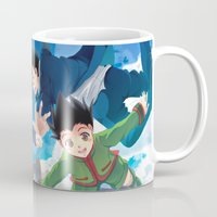 hunter x hunter Mugs featuring Hunter x Hunter: Skydive by akayashi