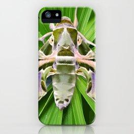 Oleander Hawk Moth on Radiating Plant iPhone Case
