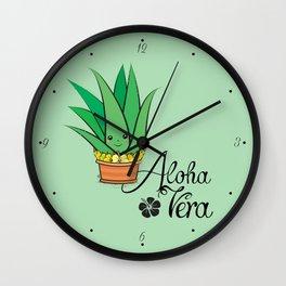 Aloha Vera Kawaii Wall Clock