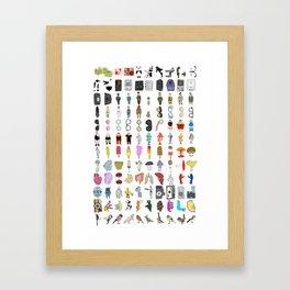 Letterpress Collection #01 Framed Art Print