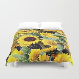 Happy Sunflowers Duvet Cover