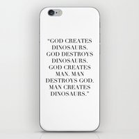 jurassic park iPhone & iPod Skins featuring Jurassic Park by Dedication