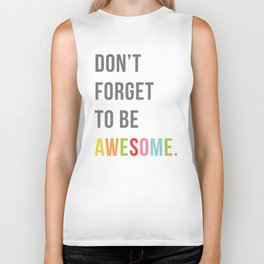 Be Awesome 2 Funny Quote Biker Tank
