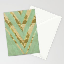 blooming chevron Stationery Cards
