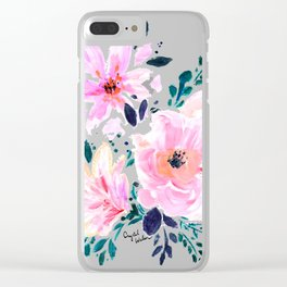 Floral Daydream Clear iPhone Case