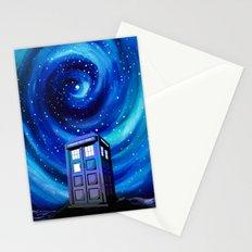 Tardis Vortex Starry Night Stationery Cards