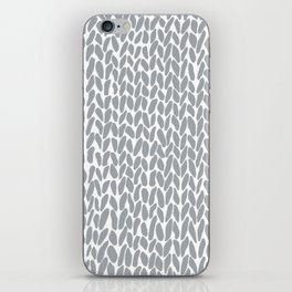 Hand Knit Zoom Grey iPhone Skin
