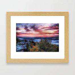 Stained Sunrise Framed Art Print