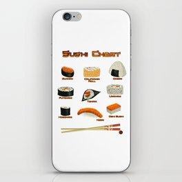 Sushi Chart iPhone Skin