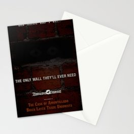 Nevermore Builders: Cask of Amontillado Trump-Wall Advert Stationery Cards
