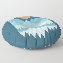 Cabin In The Snow Floor Pillow
