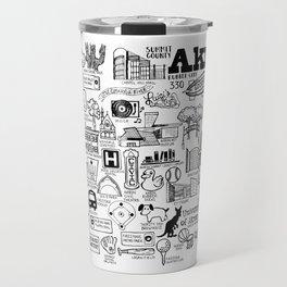 Akron Ohio Map Travel Mug