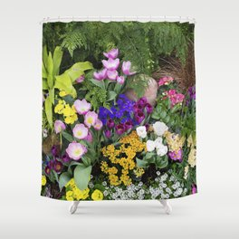 Floral Spectacular - Spring Flower Show Shower Curtain