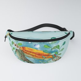 Watercolor turtle Fanny Pack