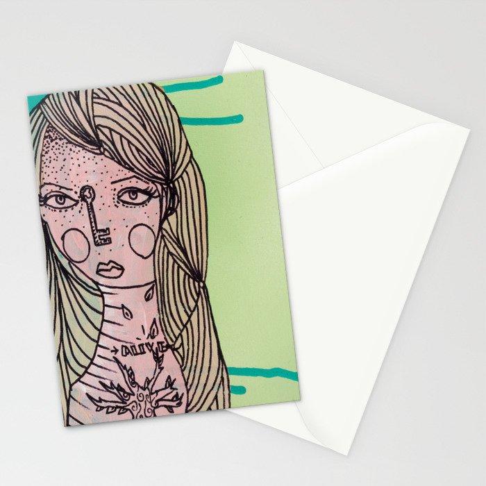 Alive Key Stationery Cards
