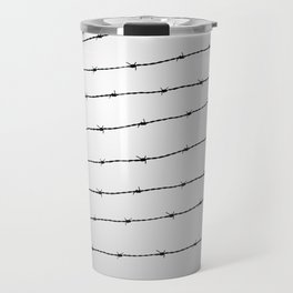 Cool gray white and black barbed wire pattern Travel Mug
