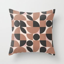 Mosaic retro desert Throw Pillow