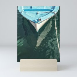 The Harbour Series - Blue Boat Mini Art Print
