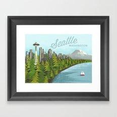 Seattle Sound Framed Art Print