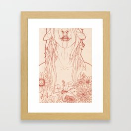 Blume Framed Art Print