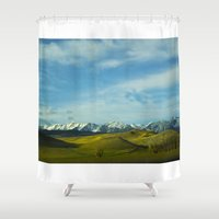 montana Shower Curtains featuring Montana Hills by Kenna Allison