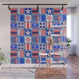 4th July Patchwork Wall Mural