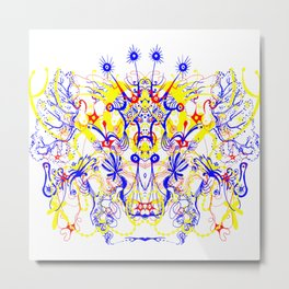 Butterfly with four horns Metal Print