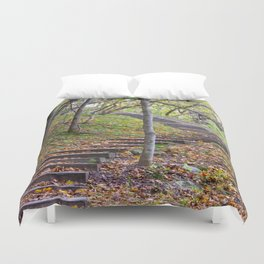 Stairway into the Woods Duvet Cover