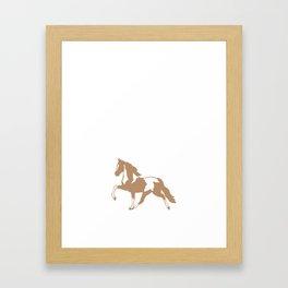 God Created Horses Painted the Good Ones T-Shirt Framed Art Print
