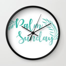Palm Sunday Leaves Wall Clock