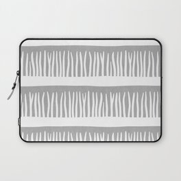 Abstract Blades of Grass in Grey Laptop Sleeve