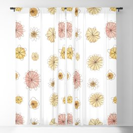 Pink & Yellow Happiness Blackout Curtain