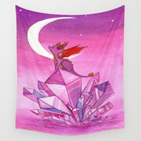 crystal Wall Tapestries featuring Crystal by Henna Hakulinen