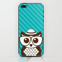 Teal Owl iPhone Skin