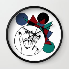 Cunning langue: V for Virility Wall Clock