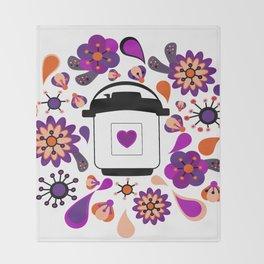 Floral Instant Pressure Pot Throw Blanket