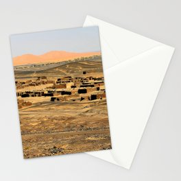 Little Village at Merzouga, Morocco Stationery Cards