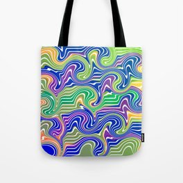 Swirls in blue and green Tote Bag