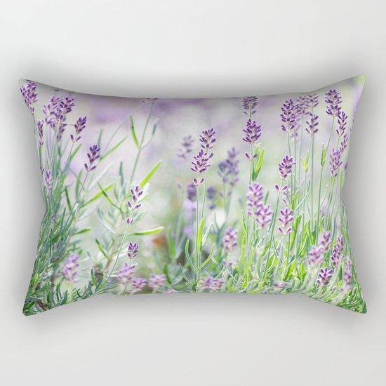 Lavender in summer garden Rectangular Pillow