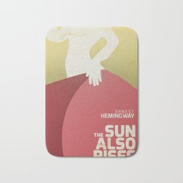 The sun also rises, Fiesta, Ernest Hemingway, classic book cover Bath Mat
