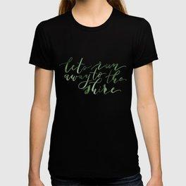 Let's run away (green) T-shirt