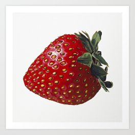A Strawberry, Out of the Universe Art Print