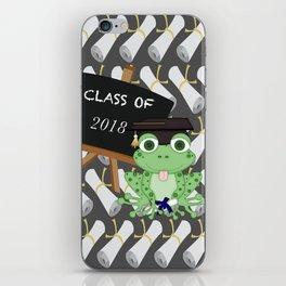 Graduations Diplomas Class of 2018 Frog iPhone Skin