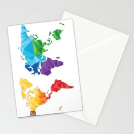 World of geometric concept design  Stationery Cards