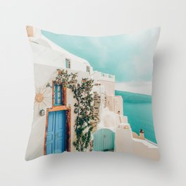 Holiday Home #travel #photography Throw Pillow