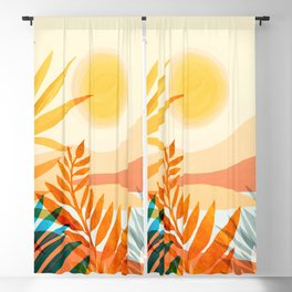 Golden Hour / Abstract Landscape Series Blackout Curtain